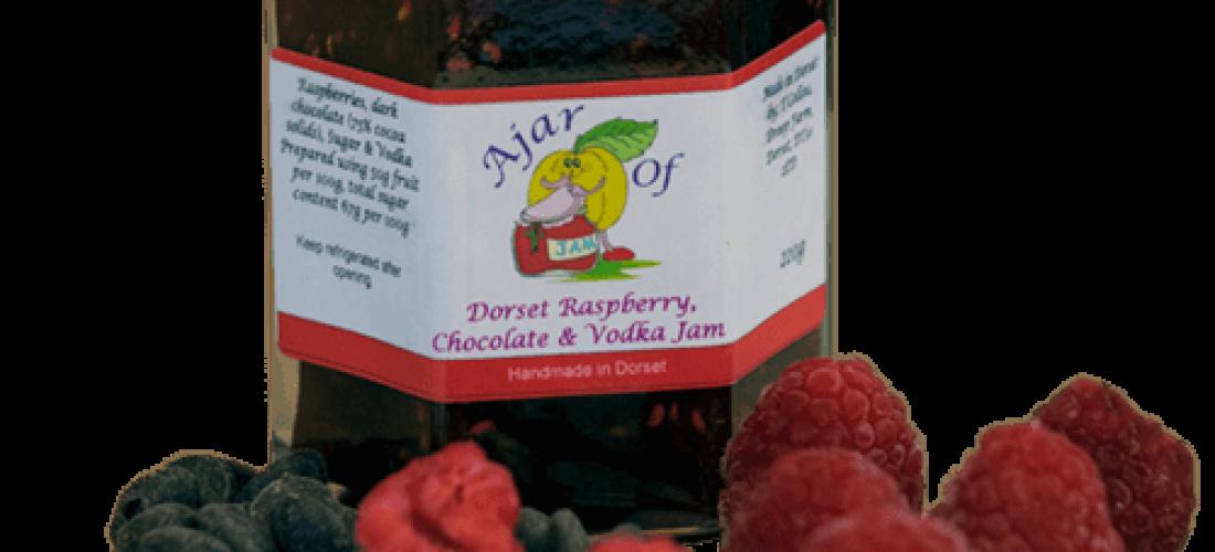 Dorset Raspberry Chocolate and Vodka jam
